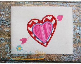 Heart and Arrow Applique