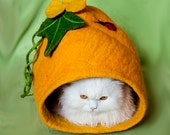 Pet bed / cat bed / cat cave / puppy bed/pumpkin/ Cat Mat /For cats and small dogs, SALE from 78 USD