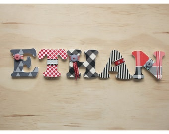 5 Wooden Letters - 75mm by 6mm
