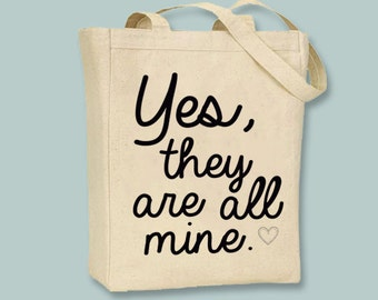 Yes, they are all mine Typography Tote, mom, mother  - Selection of sizes and  image colors available