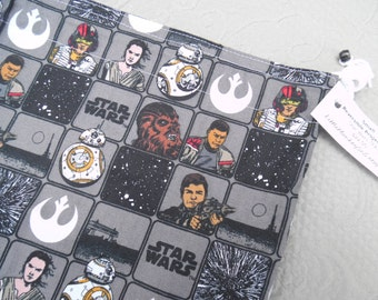 "Small Reversible WIP bag, ""Star Wars The Force Awakens"""