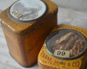 Antique Specimen Tins