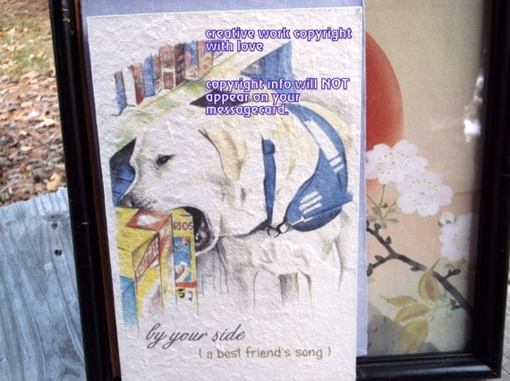 by your side ( a best friend's song ) service worker/ celebration of the journey cards/sentimental cards/unique empathy condolence cards