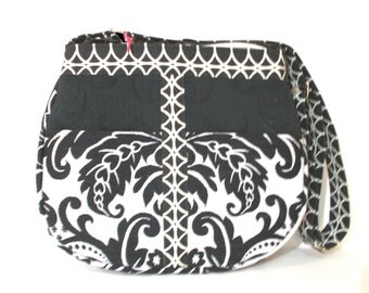 Cross Body Purse, Shoulder Bag, Black & White