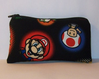 "Padded Pipe Pouch, Mario Brothers, Pipe Bag, Pipe Case, Padded Pouch, Stoner Gift, Weed Bag, Nerd Gift, Gamer Gift, Small Pouch - 5.5"" SMALL"