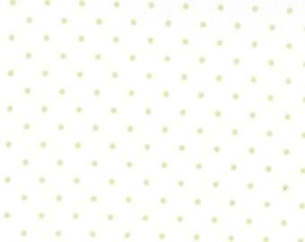 Essential Dots - Moda Basics - White/Spring Green - Moda 8654 63