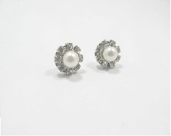 Bridal Pearl Crystal stud Earrings, Bride,Affordable Wedding, Bridesmaids,