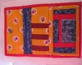 Handmade Vintage Wallet, Floral Wallet, Vintage Handmade, Calico Wallet, Grandma Wallet, Large Handmade Wallet, Handmade Pocketbook, Wallet