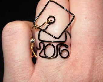 Wire Wrapped 2016 Graduation Cap MADE to ORDER Ring