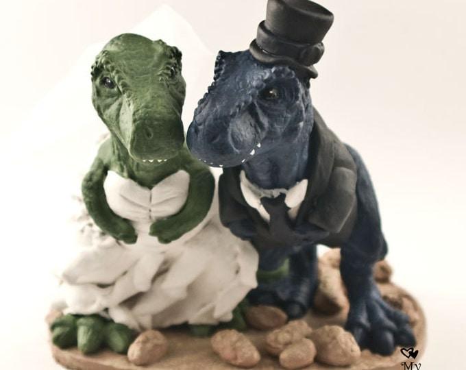 Realistic T-Rex Dinosaur Wedding Cake Topper