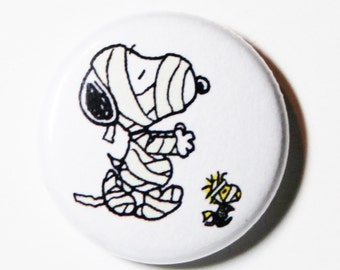 Mummified Snoopy - 1 inch Button, Pin or Magnet