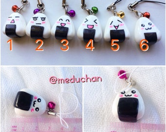 Cute Onigiri Polymer Clay Phone Charm