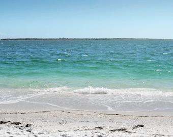 Ocean Beach Photography Print 11x14 Fine Art Florida Punta Gorda Gulf Coast Tropical Landscape Photography Print.