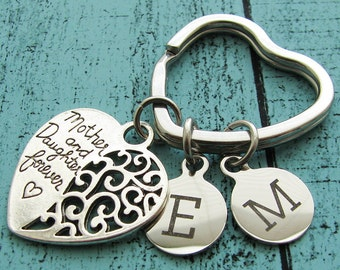Mothers Day gift for mom, mom gift, wedding gift for mom from daughter, mom keychain, mother of the bride gift, mother and daughter forever
