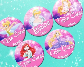 """Disney Bridal Party Character 3"""" Button"""
