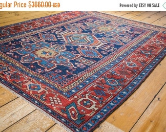 10% OFF RUGS DISCOUNTED 5x6 Antique Karaja Square Rug