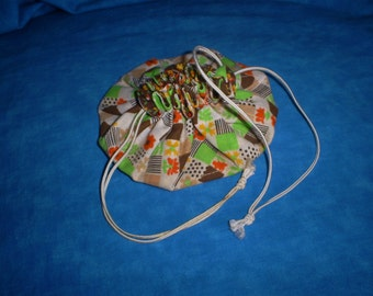 Handmade Vintage Jewelry Pouch.