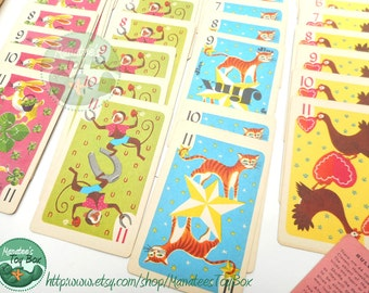 Vintage Kids Hearts Card Game by Whitman Complete