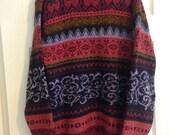 Vintage Laura Ashley fairisle oversized tunic wool mix sweater L