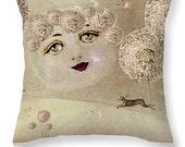 Surreal Art Dream Pillow Decorative Pillow Accent Pillow Dandelion Moon Home Decor Pillow