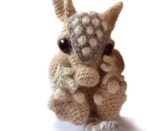 Armadillo Baby Amigurumi Crochet Pattern PDF Instant Download - Earl