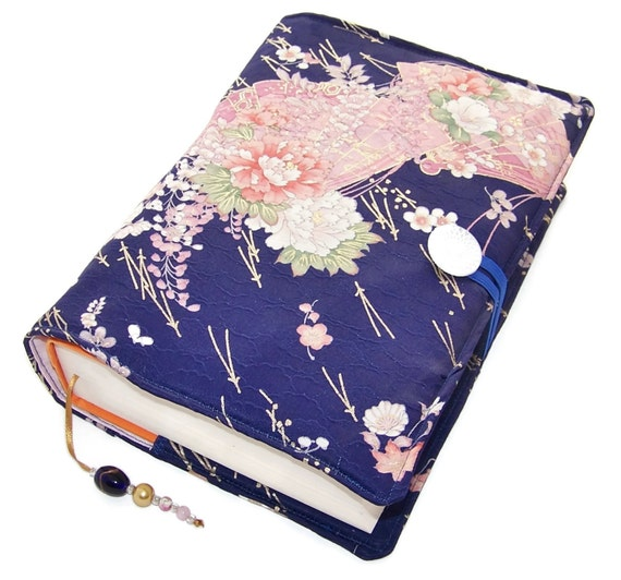Book Cover Pattern Uk : Large bible cover handmade book vintage silk kimono