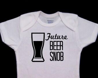 Future Beer Snob Baby Onesie Bodysuit