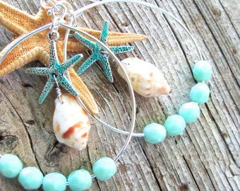 Starfish Kisses Shell Earrings