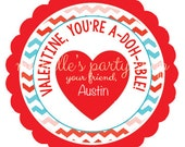 PRINTABLE  Valentine, You're a -DOH-able Favor Tags