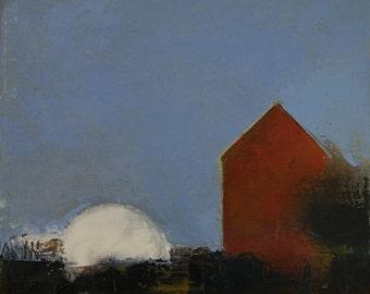 The Crab Apple — Original Oil Painting, Landscape Painting, Abstract Landscape, Original Oil Painting on Canvas, Fine Art, 8 x 10