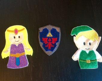 Zelda inspired finger puppets