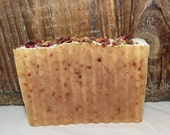 Rose Hip and Honey Luxury Cold Process Rustic Soap - Palm Free - Unscented