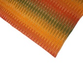 Ikat Cotton fabric handloom/homespun Ikat fabric/Ikat fabric by the yard in bright hues of red yellow and green
