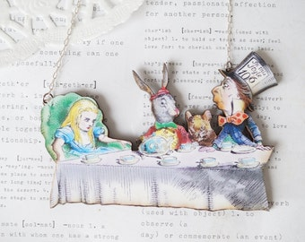 Alice Mad Hatters Tea Party Necklace