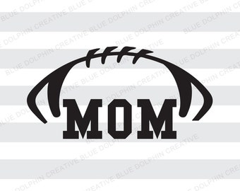 Football Mom SVG DXF png pdf jpg ai / Football / Cricut, Silhouette cutting files / cutting machine cut file / instant download