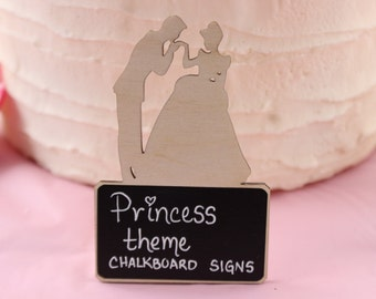 Cinderella Princess Theme Birthday Party Decorations,Princess Baby Shower Decor,Birthday Party Supplies,Chalkboard Signs,Food Markers