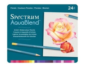Spectrum Noir AquaBlend Watercolour Pencils - FLORALS