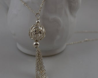 Sterling Silver Tassle Necklace