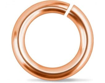 "Solid Copper Jump Ring, 16 Gauge, 1/4"" Diameter, Choose Quantity, Tools & Supplies, Hand Stamped Jewelry Making, Open Jump Ring"