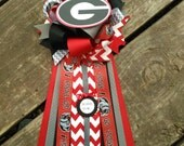 Chevron Georgia bulldogs baby shower pin