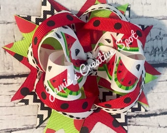 Watermelon Over The Top Bow