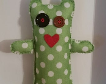 Cute felt alien doll,alien stuffed toy, polka-dot alien toy, alien doll, stuffed alien doll, polka-dot doll