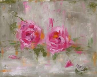 Wild Rose Original Oil Painting by Kelly Berkey