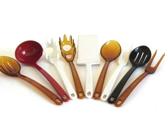 Ultratemp Kitchen Utensil Spoon Spatula Spaghetti Claw Fork Slotted Spoon Robinson Knife Pyrex Accessories Corning Ware Vision