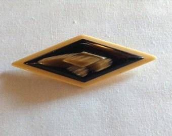 Vintage  Bakelite Pin Art Deco Made in France Brooch