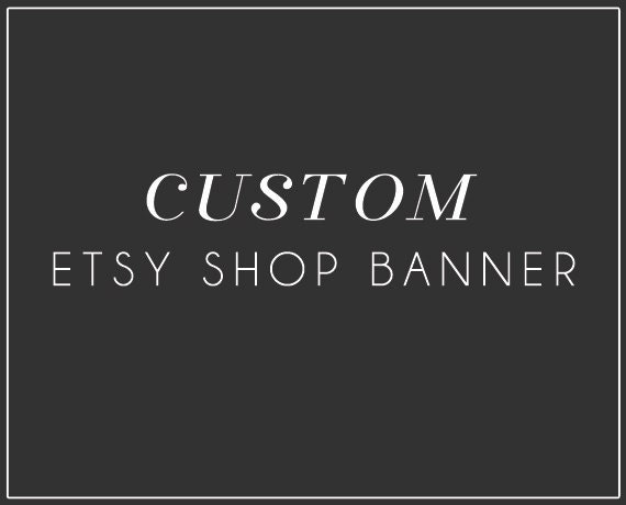 Etsy Shop Banner - Custom -  modern, simple and made to order // branding