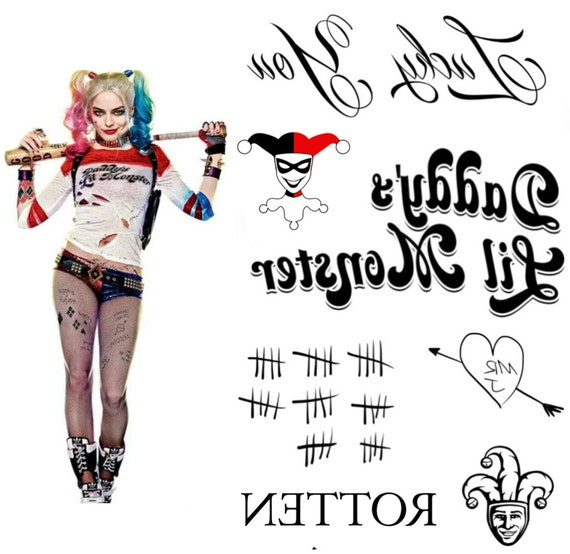 Harley Quinn Costume Tattoos