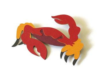 Crab die cuts - 4 dies (3 in.) - you choose the colors (C58)