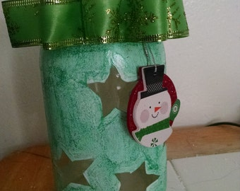 Handmade Christmas mason jar