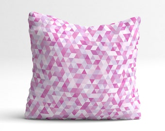 Pink decorative pillow, pillow cover, kids throw pillow, kids nursery pillow, kids throw pillow, nursery decor, tiny diamonds, kids bedding